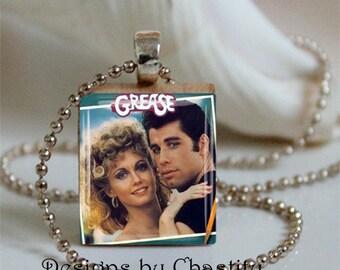 Vintage Grease Movie Alterd Art Scrabble Necklace
