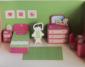 Printable bedroom - PDF paper craft