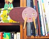 Acrylic on wood original art - Ms Mortadella