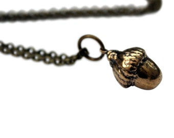 Bronze Acorn Necklace - Gwen Delicious Jewelry Designs 066