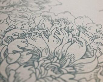 Ketubah Giclée Print by Jennifer Raichman - Peonies