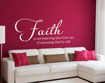 Faith Wall Decor scripture wall decal christian wall art be still and know