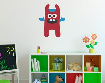 Monster Wall Decal 5 - Monster Wall Decor - Children Wall Decals