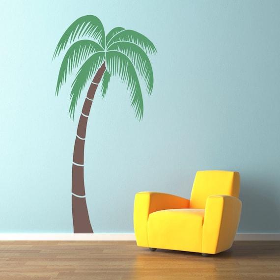 palm tree wall decals 2017 grasscloth wallpaper. Black Bedroom Furniture Sets. Home Design Ideas