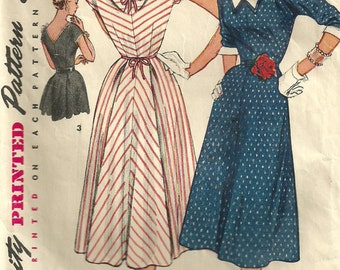 Simplicity 4654 Vintage 50s Sewing Pattern Dress Size 12