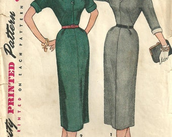 Simplicity 4574 / Vintage 50s Sewing Pattern / Dress / Size 14