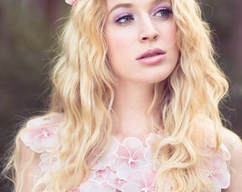 pink flower crown, wedding headpiece, flower crown, bridal headband, wedding headband, bridal headpiece, wedding accessories