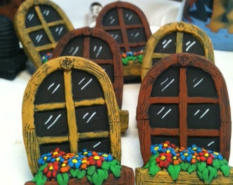 Arched Fairy Garden window box window