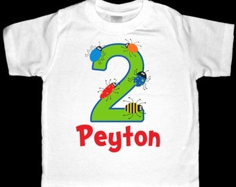 Personalized Bugs Birthday Shirt or Bodysuit - Personalized with ANY name and age