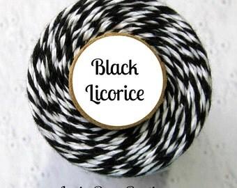 Black Bakers Twine by Trendy Twine - Black Licorice