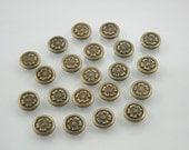 50 pcs Zinc Antique Brass Sakura Flower Rivets Studs Button Decorations Findings 9 mm. FW RBR9 K
