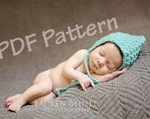 Crochet pixie bonnet pattern, newborn bonnet pattern, baby hat crochet pattern, hat to sell, easy chrochet pattern