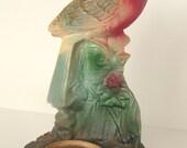 Chalkware Bird Statue Shrine Votive Holder