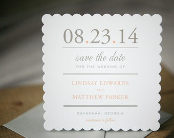 Wedding Save the Dates - Scallop Save the Date Card