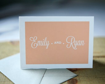 Wedding Thank You Notes - Emily Personal Stationery