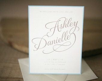 Birth Announcement - Scripted Custom Baby Announcement