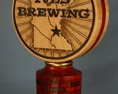 Custom Beer Tap Handle Personalized with Your Brewing Logo with Woodburning - Made to Order