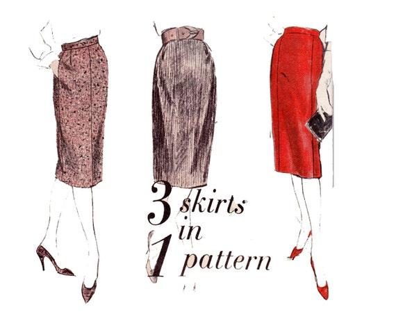 60s pencil skirt pattern vogue 5108 vintage sewing pattern
