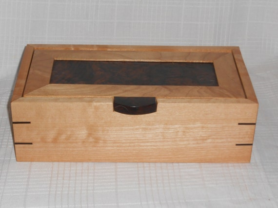 Stunning Figured Walnut and Maple Burl Keepsake Box