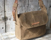 The Finch Satchel: Truffle by Peg and Awl