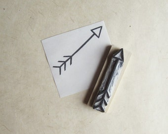 Arrow Hand Carved Rubber Stamp