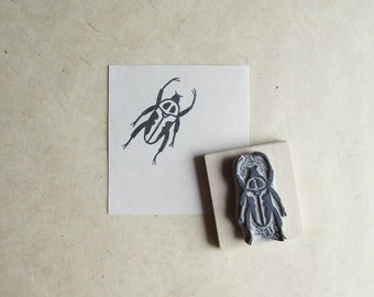 Little Beetle - Hand Carved Stamp