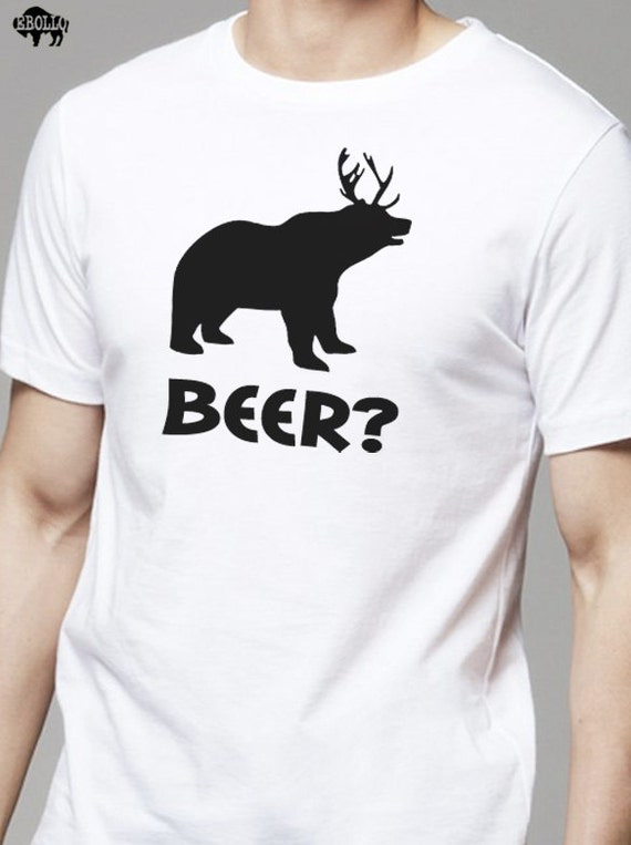 Husband Gift Beer Bear Deer MENS T Shirt Father's Day Gift