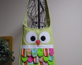 Owl Purse Tote Bag Feathered Owl Create Your Own Design CUSTOM