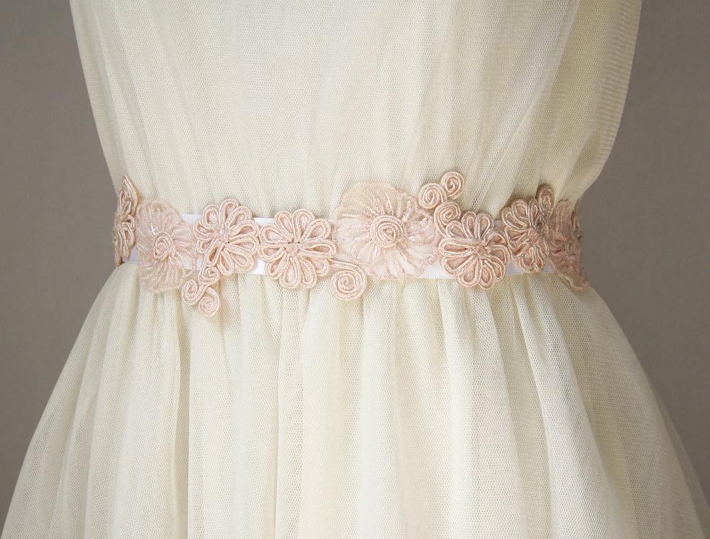 Pink Wedding Dress Sash : Custom for anna blush bridal sash wedding pale pink