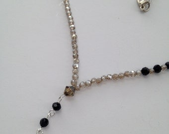 Crystal & Cross Necklace