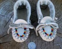 Toddler Moccasins , Beaded moccasins , Childrens moccasins , Soft toddler shoes