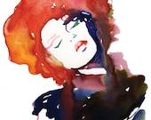 Fashion Print, Fashion Illustration Print,  Watercolor Fashion Illustration, Cate Parr, Fashion Wall Art, Fashion Poster, Fashion gift,