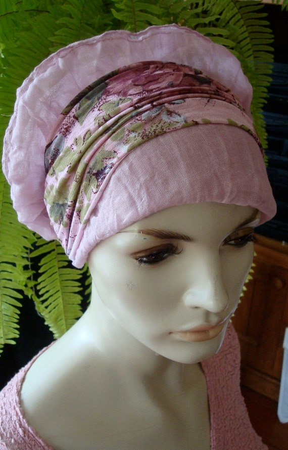 womens hats for chemo headscarf lilac mauve comfortable