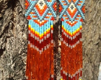 Native American Made Beaded Earrings