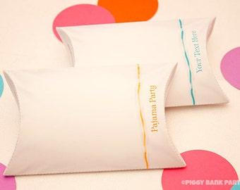 Sleepover PILLOW Favor Box - DIY Printable PDF