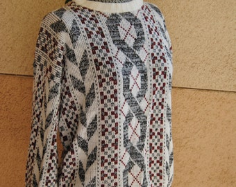 Vintage 1980's Graphic Sweater