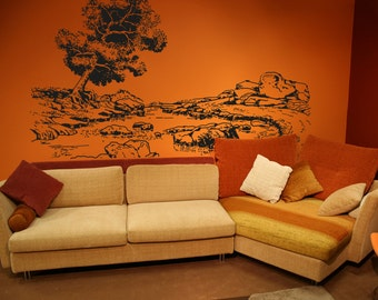 Vinyl Wall Decal Sticker Tranquil Forest OSAA1072B