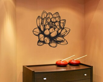 Vinyl Wall Decal Sticker Lotus Blossom 1074m