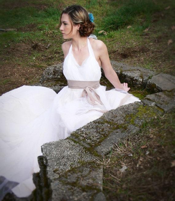 Romantic Shabby Chic Wedding Dress Whimsey Bird