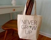 Peter Pan tote bag, Disney Tote bag, Peter Pan, J. M. Barrie Peter pan, Never grow up