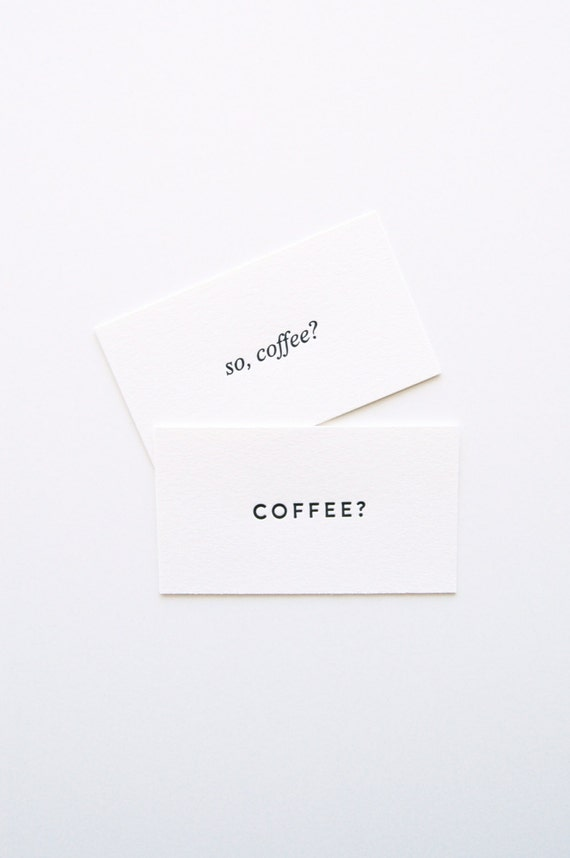 Coffee Date Cards - Set of 30