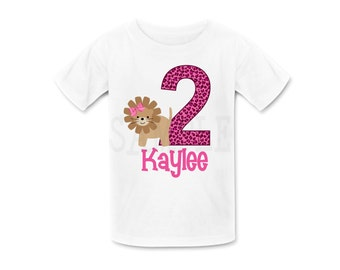 Lion Birthday  TShirt or Bodysuit Personalized Lion Birthday Shirt Boys or Girls