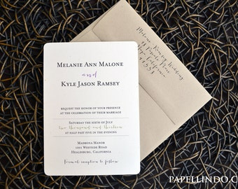 Modern Casual Wedding Invitation Sample