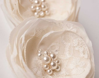 Wedding hair accessory, Ivory wedding hair flowers, Wedding hair piece,  Bridal hair accessories, Bridesmaids hair