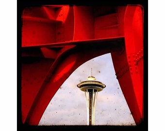 Space Needle, Seattle Landmark,  Affordable Urban Décor, TTv Inspired 8x8 UNMATTED fine art print