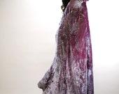 Vintage Lilac RENAISSANCE Hooded MAXI COAT Cloak Fantasy Burlesque Shimmer Amazing - StylizeYourLife