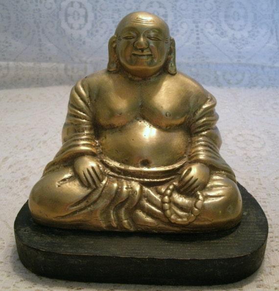 Https Etsy Com Listing 128715812 Vintage Brass Buddha Figurine Home Decor