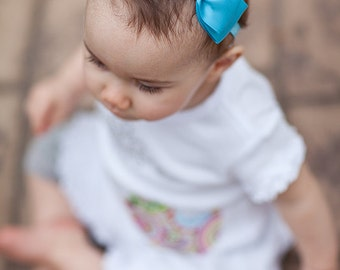 Turquoise Baby Headband/ Turquoise Bow Headband/ Bow Headband/ Girls Hair Accessories/ Baby Girls Hair Accessories/ Newborn Headband
