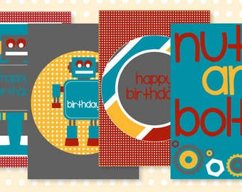 Robot Party PRINTABLE 5x7 Party Signs (INSTANT DOWNLOAD) by Love The Day