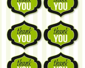 Little Man Party PRINTABLES Thank You Labels (INSTANT DOWNLOAD) by Love The Day